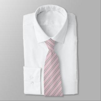 Gravata Laço cinzento incorporado do teste padrão listrado