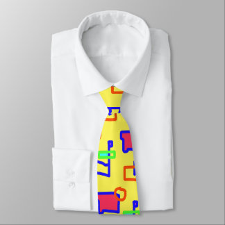 Gravata Laço colorido da arte abstracta