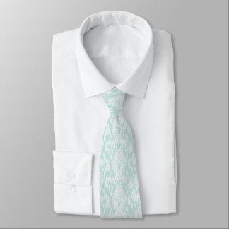 Gravata Laço com aqua e design do branco