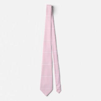 Gravata Laço cor-de-rosa da xadrez