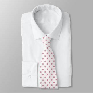 Gravata Laço cor-de-rosa do teste padrão de bolinhas