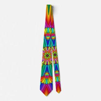 Gravata Laço criativo colorido do carnaval do arco-íris