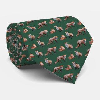 Gravata Laço da agitação do Fox vermelho (verde escuro)