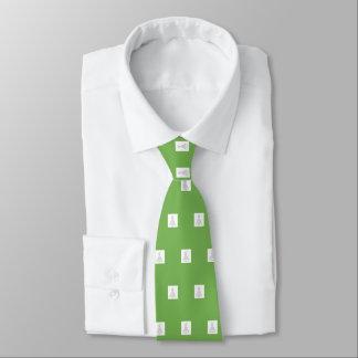 Gravata Laço da árvore de Natal, verde-claro, branco,