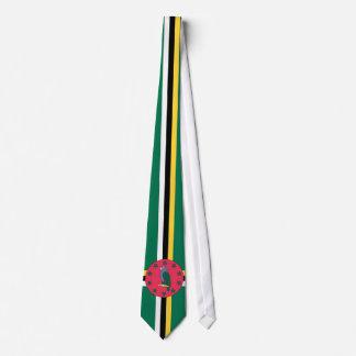 Gravata Laço da bandeira de Dominica