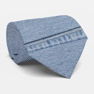 Gravata Laço da sarja de Nimes com monograma
