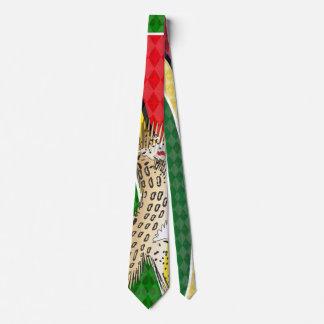 Gravata Laço de Jaguar da bandeira de Guyana por