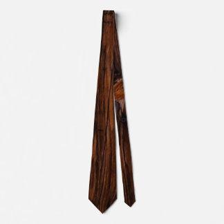 Gravata Laço de madeira dos homens de Brown da grão