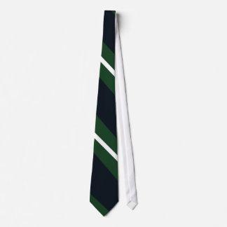 Gravata Laço Diagonal-Listrado do marinho, do verde, e o