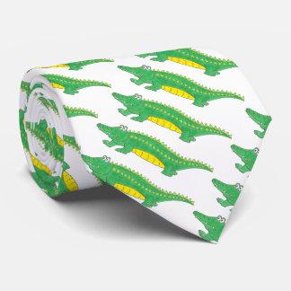 Gravata Laço do crocodilo de Croc do jacaré do verde do