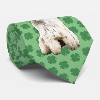 Gravata Laço do dia de Terrier St Patrick Wheaten