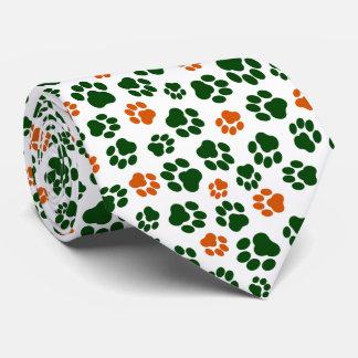 Gravata Laço do impressão da pata do dia de St Patrick
