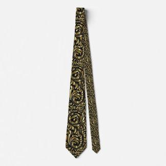 Gravata Laço do pescoço - drama no preto e no ouro