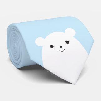 Gravata Laço do urso polar do Peekaboo