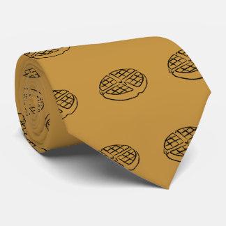 Gravata Laço do Waffle dos amantes do pequeno almoço