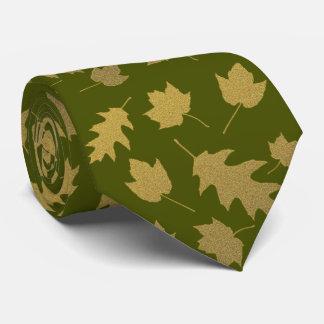 Gravata Laço dos homens do teste padrão da folha da verde