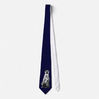 Gravata Laço escuro dos azuis marinhos de Meerkat