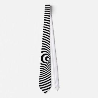 Gravata laço espiral da ilusão 3D óptica