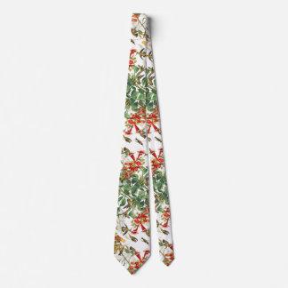 Gravata Laço floral dos animais selvagens dos pássaros do