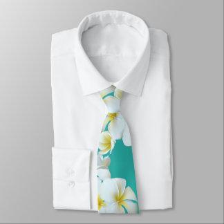 Gravata Laço havaiano azul esverdeado das flores da lagoa