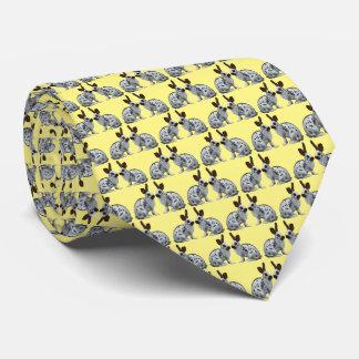 Gravata Laço inglês da agitação do coelho (amarelo)