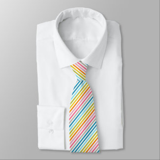 Gravata Laço listrado arco-íris