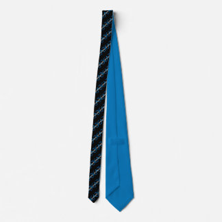 Gravata Laço listrado do preto, o azul & o branco de