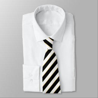 Gravata Laço listrado preto & branco incorporado
