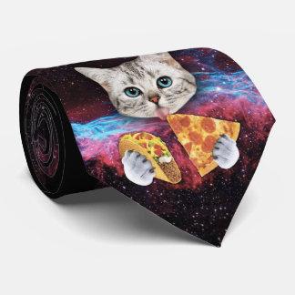 Gravata Laço louco do espaço da pizza do Taco do gato