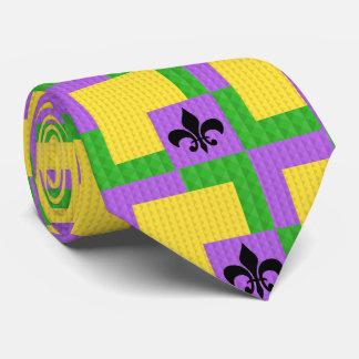 Gravata Laço modelado carnaval com flor de lis