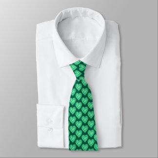 Gravata Laço modelado pedra do coração do verde esmeralda