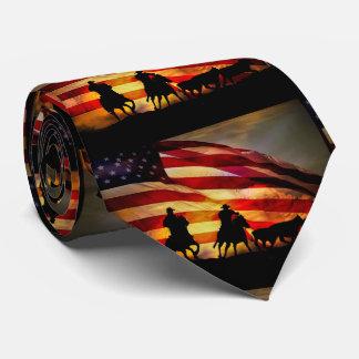 Gravata Laço ocidental americano do vaqueiro e da bandeira