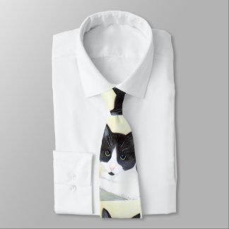 Gravata Laço preto e branco do gato