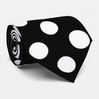 Gravata Laço preto e branco do pescoço do teste padrão de