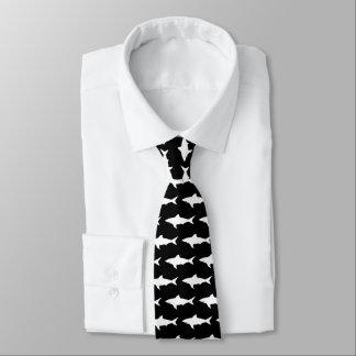 Gravata Laço preto e branco do pescoço do teste padrão dos