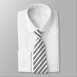 Gravata Laço preto incorporado do teste padrão listrado