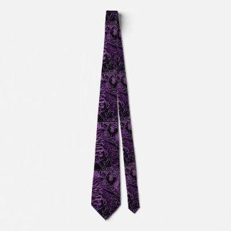 Gravata Laço preto roxo do girassol