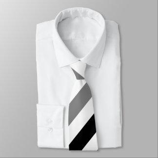 Gravata Laço regimental preto e cinzento branco da listra