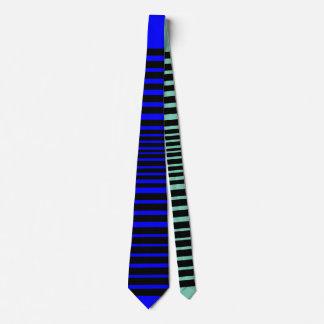 Gravata Laço selvagem da listra (azul legal)