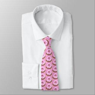 Gravata Laço telhado rosquinha congelado cor-de-rosa da