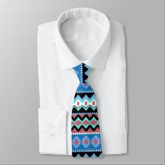 Gravata Laço tribal azul colorido do pescoço do teste