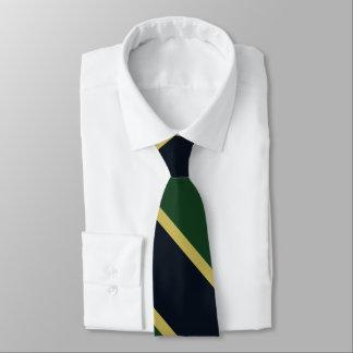 Gravata Laço verde da listra da universidade do marinho e