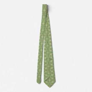Gravata Laço verde do design geométrico da folha da hera