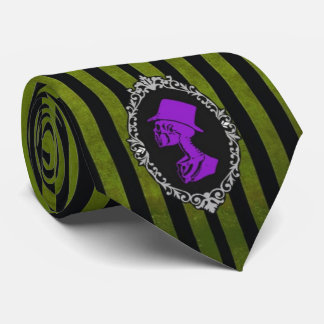 Gravata Laço verde e roxo gótico