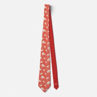 Gravata Laço vermelho do elefante de Paisley