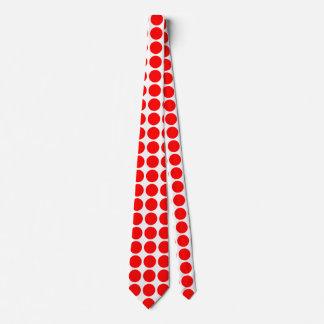 Gravata Laço vermelho do pescoço das bolinhas