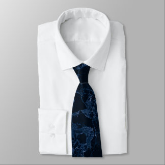 Gravata Laje de mármore de PixDezines, azul da meia-noite