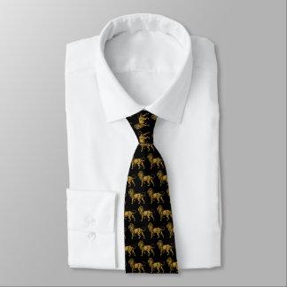 Gravata Leão dourado TP