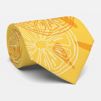 Gravata Limões amarelos brilhantes teste padrão tirado do