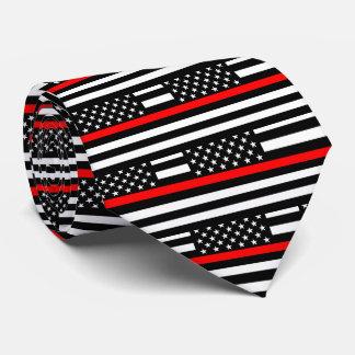 Gravata Linha vermelha fina americana decoração do gráfico
